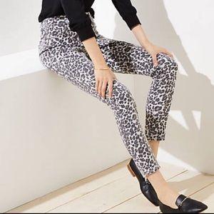 NWT Loft Cheetah Print Jeans 🐆